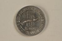 1993.53.2 back Łódź (Litzmannstadt) ghetto scrip, 5 mark coin  Click to enlarge