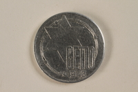 1993.53.4 front Łódź (Litzmannstadt) ghetto scrip, 20 mark coin  Click to enlarge