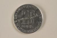 1993.53.4 back Łódź (Litzmannstadt) ghetto scrip, 20 mark coin  Click to enlarge
