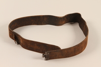 1993.54.1 a front Black leather belt with Nazi eagle insignia  Click to enlarge
