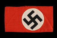 1993.59.14 front Nazi armband with a swastika acquired by a US soldier  Click to enlarge