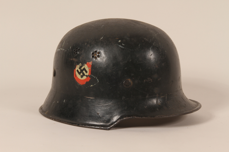 1993.71.1 right side Wehrmacht helmet found by a US soldier during the war