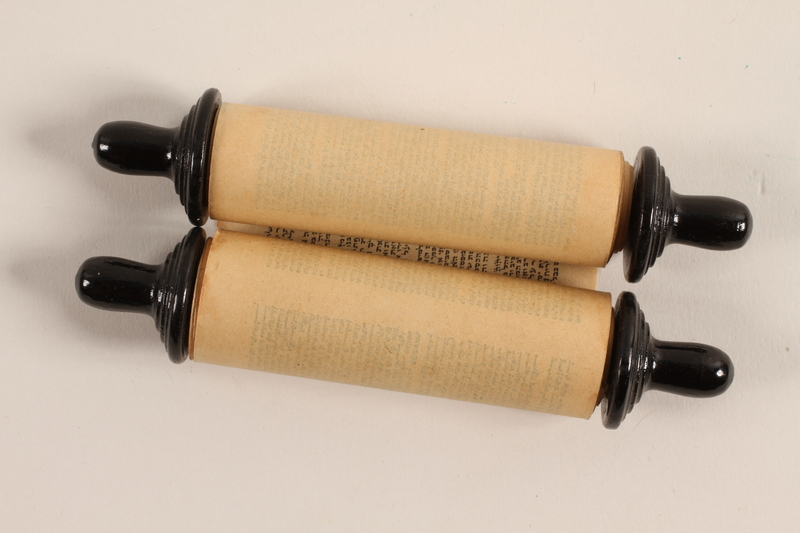 1993.85.1_a front Torah scroll made for a Jewish boy