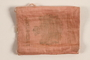 Pink cloth Torah scroll cover saved by a refugee from Nazi Germany