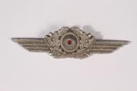 2014.480.52 front Schirmmutze cockade, Luftwaffe  Click to enlarge