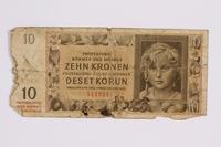 2014.480.121 front ten kronen scrip  Click to enlarge