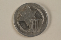 1993.96.2 front Łódź (Litzmannstadt) ghetto scrip, 10 mark coin  Click to enlarge