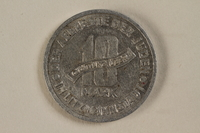 1993.96.2 back Łódź (Litzmannstadt) ghetto scrip, 10 mark coin  Click to enlarge
