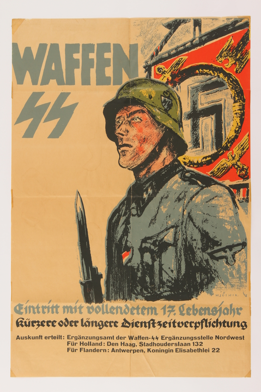 2014.496.1 front Waffen-SS recruiting poster