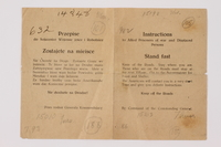 2014.480.16 front Instructions for Allied Prisoners of War and Displaced Persons  Click to enlarge