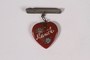 Stickpin with a painted glass heart acquired by a US soldier