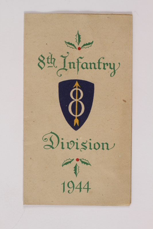 2014.480.12 front Christmas card, 8th Infantry division, 1944