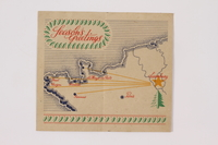 2014.480.12 open Christmas card, 8th Infantry division, 1944  Click to enlarge