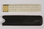 Slide rule with case