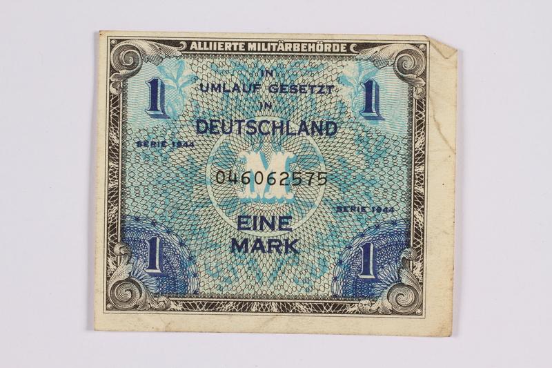 2014.480.111 front German one mark scrip