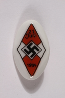 2014.480.41 front Hitler Youth badge acquired by an American soldier  Click to enlarge