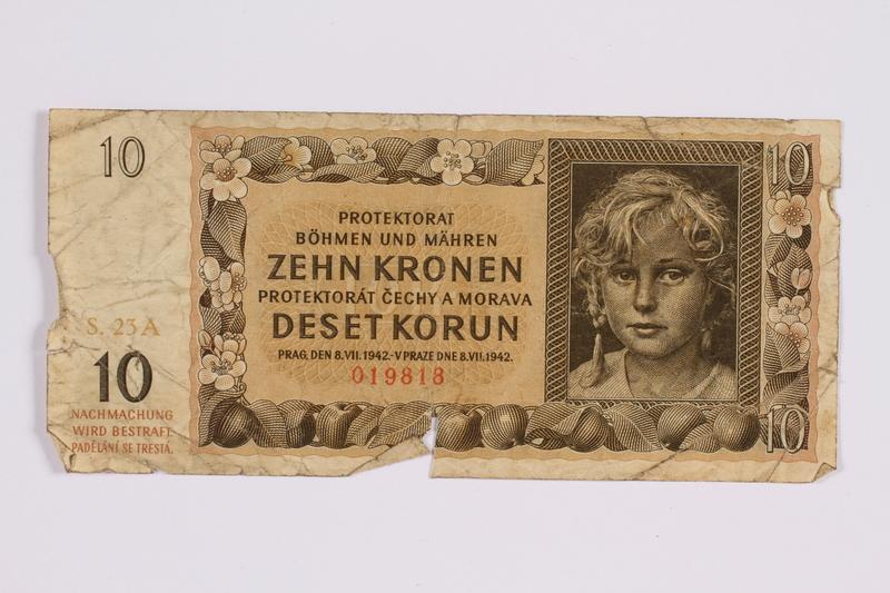 2014.480.119 front ten kronen scrip