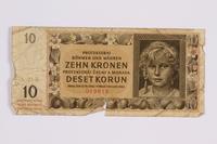 2014.480.119 front ten kronen scrip  Click to enlarge