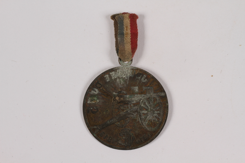 2014.480.51 a-b back WWI Touring Club of France fundraising medal