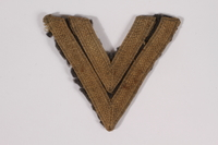 2014.480.33 front German rank insignia, Obergefreiter  Click to enlarge