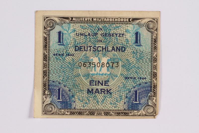 2014.480.113 front German one mark scrip