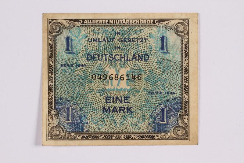 2014.480.112 front German one mark scrip
