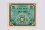 French two Francs scrip