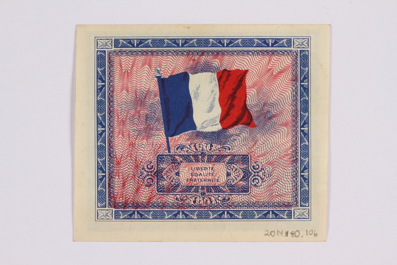 2014.480.106 back French two Francs scrip