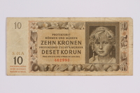 2014.480.122 front ten kronen scrip  Click to enlarge