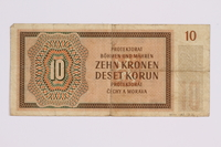 2014.480.122 back ten kronen scrip  Click to enlarge