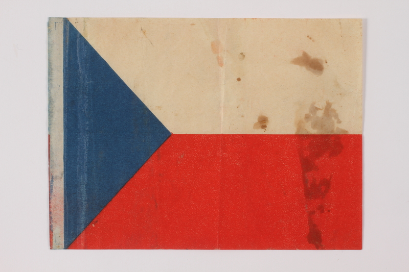 2014.480.30 front Czech paper Flag