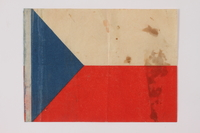 2014.480.30 front Czech paper Flag  Click to enlarge