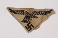 2014.480.6 front Luftwaffe insignia from sports shirt  Click to enlarge