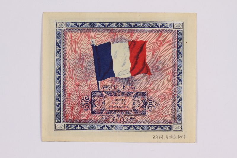 2014.480.104 back French two Francs scrip