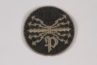 2014.480.21 a front Luftwaffe trade badge with cord  Click to enlarge