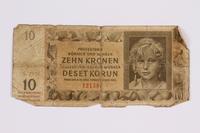 2014.480.118 front ten kronen scrip  Click to enlarge