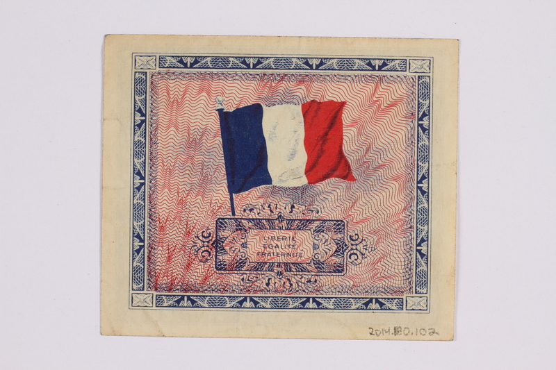 2014.480.102 back French two Francs scrip
