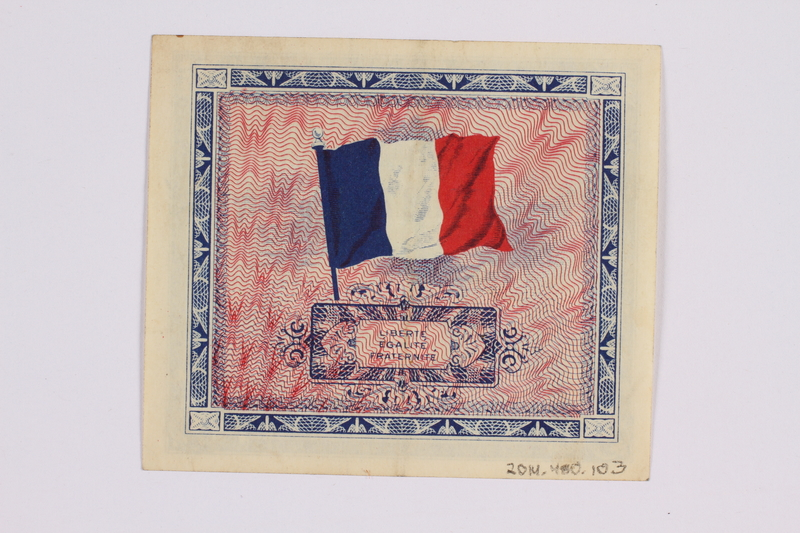 2014.480.103 back French two Francs scrip