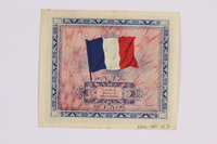 2014.480.103 back French two Francs scrip  Click to enlarge