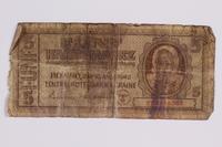 2014.480.98 front Ukrainian Five Karbowanez scrip  Click to enlarge