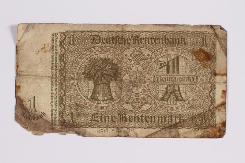 2014.480.99 back German One Rentenmark scrip