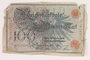 Imperial Germany Reichsbanknote, 100 mark, acquired by a US soldier