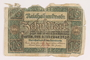 Weimar Germany, 10 mark note acquired by a US soldier