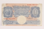 Great Britain, 1 pound note, acquired by a US soldier