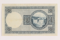 2013.442.39 back Iceland, 10 kronur, acquired by a US soldier  Click to enlarge