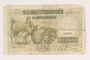 Belgium, 50 francs or 10 belga note, acquired by a US soldier