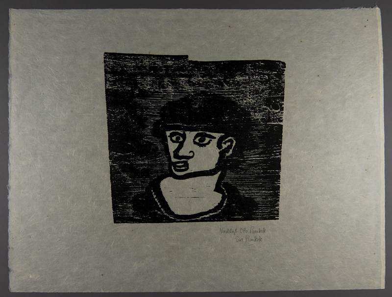 1994.10.1 front Otto Pankok woodcut of a Sinti man in a hat