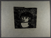 1994.10.1 front Otto Pankok woodcut of a Sinti man in a hat  Click to enlarge