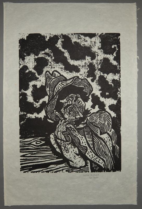 1994.10.4 front Otto Pankok woodcut of a Sinti man