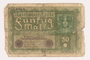 Imperial Germany, 50 mark note, series 1, from the album of a Waffen-SS officer acquired by an American soldier